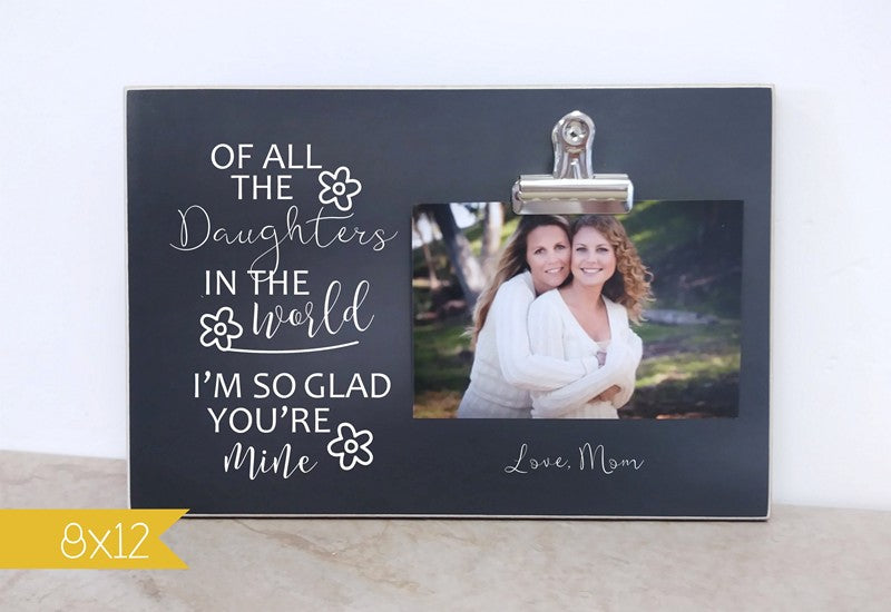 chalkboard frame mother daughter gift for daughter, personalized frame
