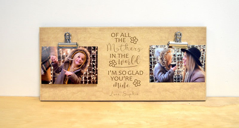 of all the mothers in the world, photo frame gift for mom, mothers day gift idea