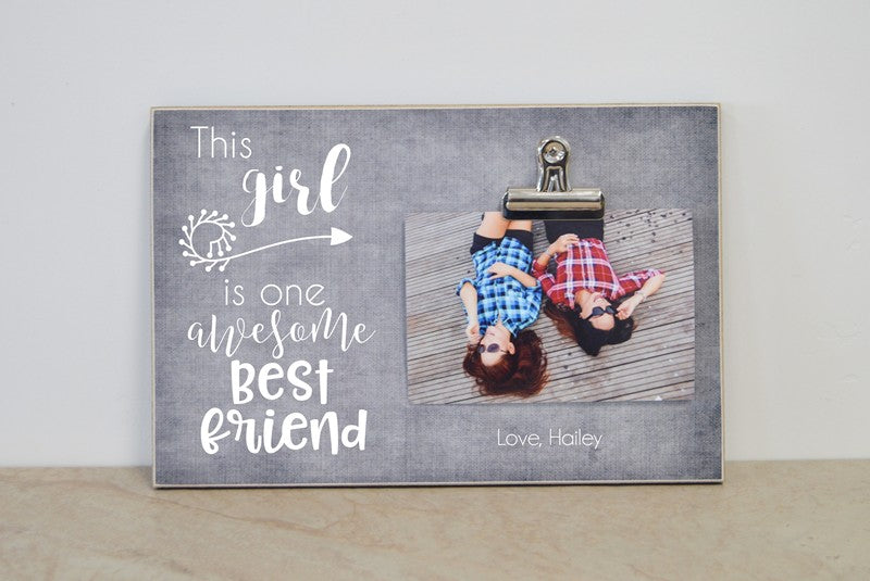 personalized best friend gift for best friend this girl is one awesome best friend, christmas gift