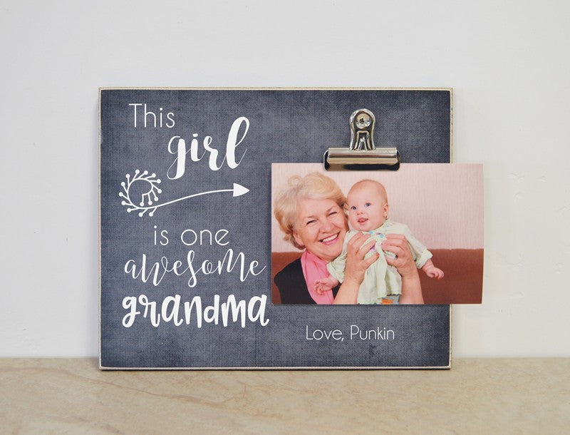 this girl is one awesome grandma photo clip frame mothers day gift for grandma