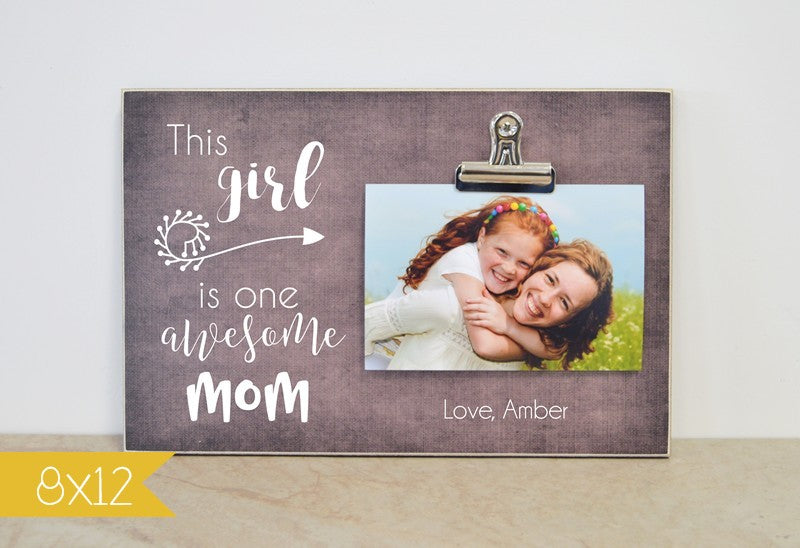 mothers day gift for mom custom photo frame one awesome mom