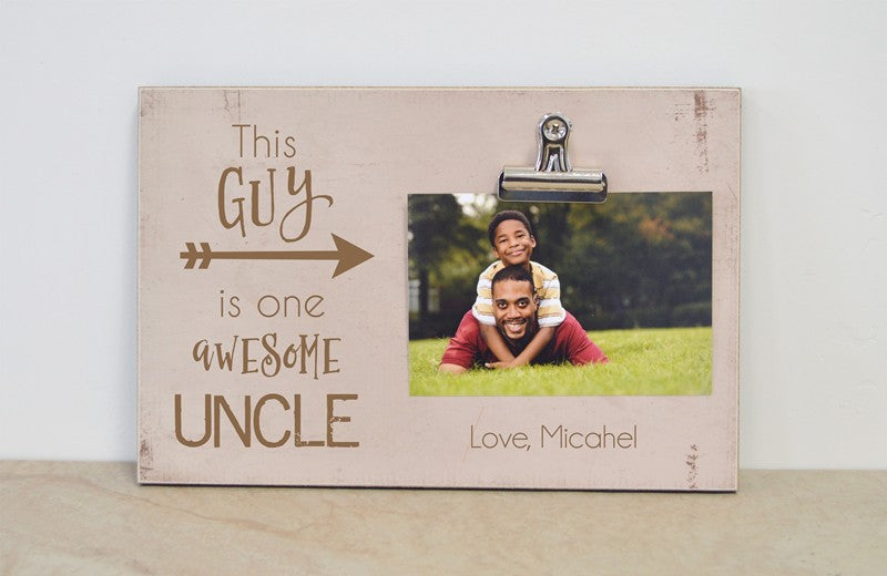 this guy is one awesome uncle photo clip frame gift for uncle