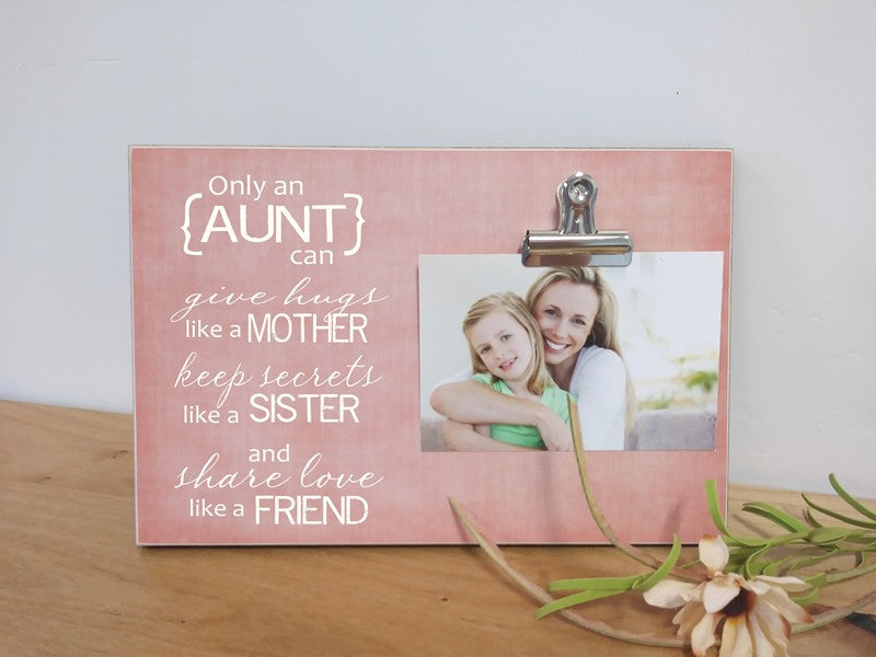 auntie gift frame - only an aunt can give hugs like a mother