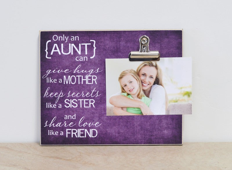 auntie gift photo frame gift for aunt, personalized gift for aunt