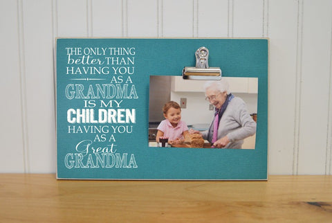 gift for great grandma photo frame, mother's day gift idea, mother's day picture frame