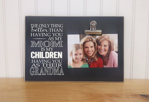 mother's day gift idea for mom, gift idea for grandma, mom photo frame