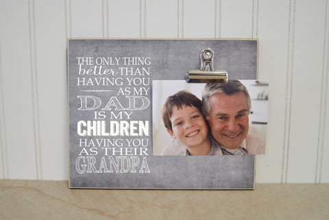 father's day gift for dad, grandpa photo frame, grandchildrens photo frame