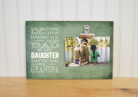 granddaugther and grandpa picture frame gift for grandpa