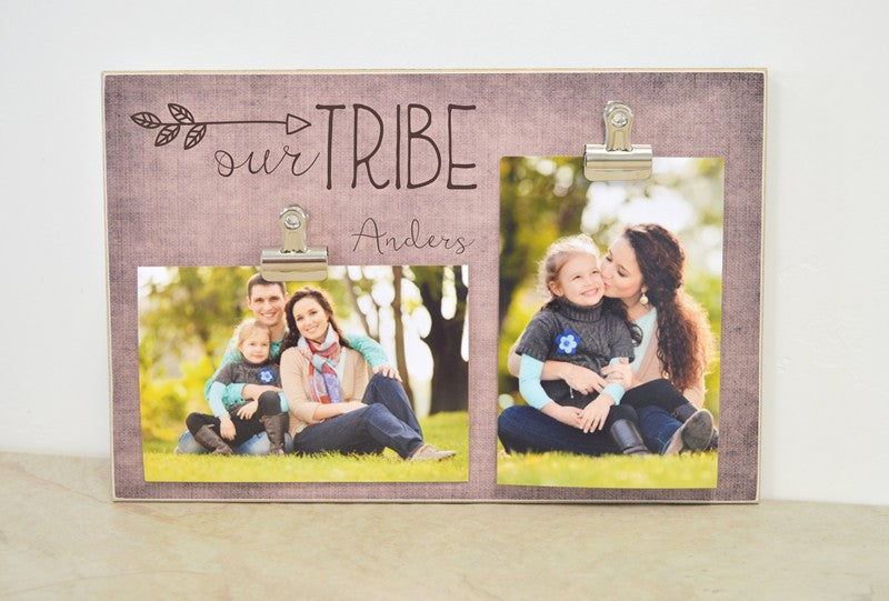 our tribe photo frame, family gift for family, arrow tribe frame, personalized family gift