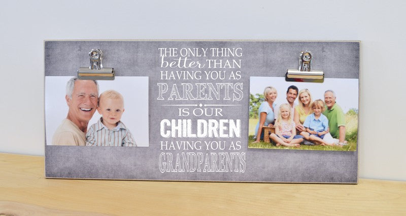 pregnancy reveal photo frame, gift for new grandparents, christmas gift, grandparents day gift, only thing better having you as parents is our children having you as grandparents
