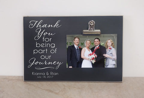 personalized wedding thank you gift - thank you for being part of our journey - photo frame