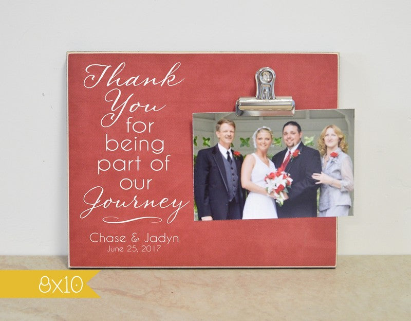 personalized wedding picture frame - thank you for being part of our journey