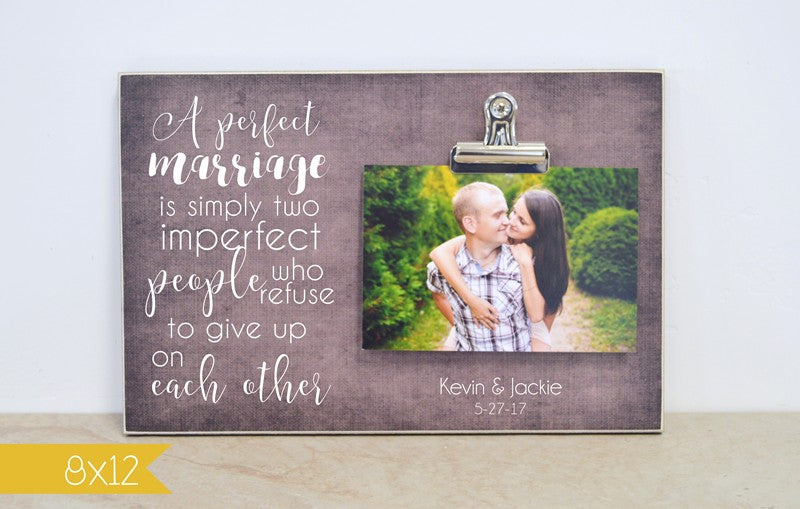 a perfect marriage is simply two imperfect people who refuse to give up on each other