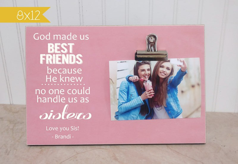 birthday gift for best friend, best friend gift, god made us best friends