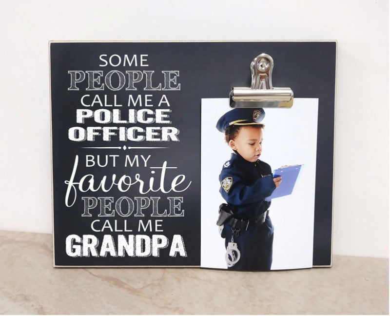 police officer gift for grandpa, father's day gift, police officer advancement gift