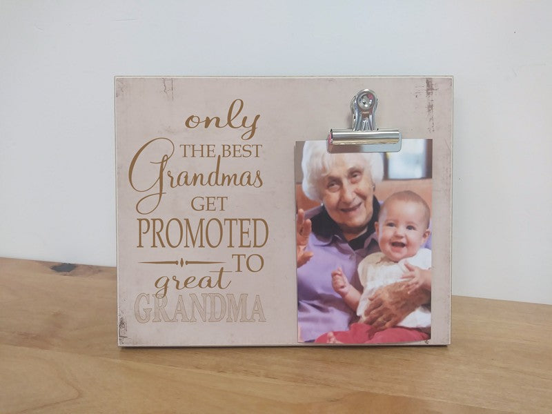 great grandma photo gift frame, gift for great grandma, pregnancy announcement picture frame