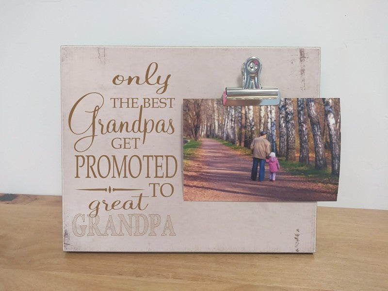 grandpa pregnancy announcement frame