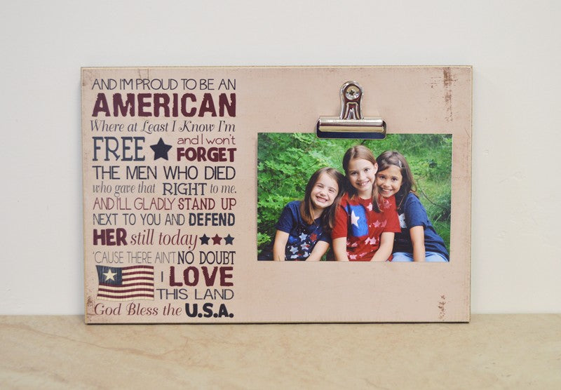 Proud To Be An American, Patriotic Picture Frame
