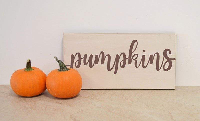 farmhouse sign, wooden sign - pumpkins fall or thanksgiving decor