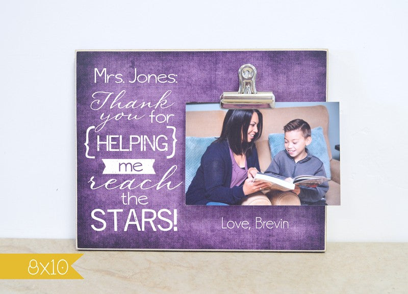 thank you for helping me reach the stars teacher appreciation photo frame gift for teacher