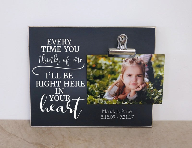 chalkboard photo frame memorial gift sympathy gift