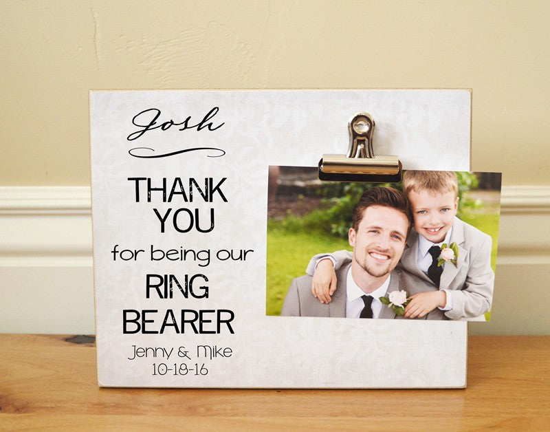 ring bearer thank you gift photo frame thank you for being our ring bearer