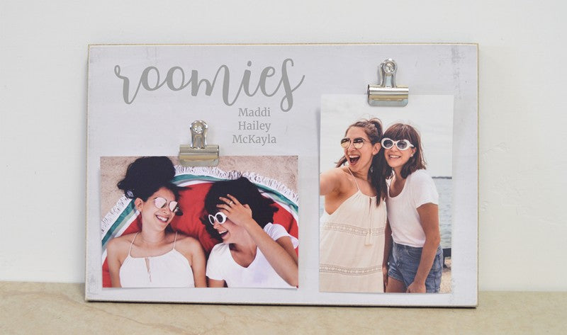 farmhouse frame roomies personalized photo frame roomies gift