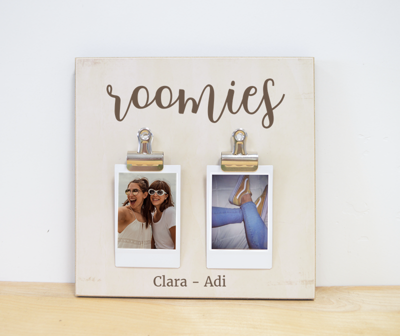 personalized gift for roommates  - roomies photo frame with names