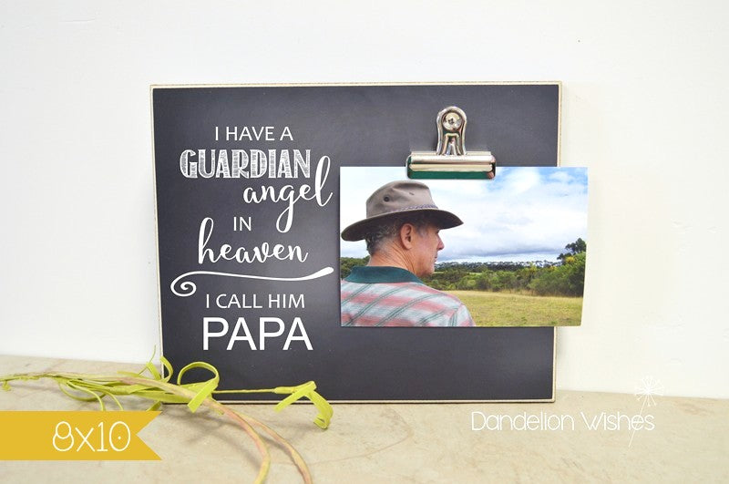 memorial gift photo frame - i have a guardian angel in heaven