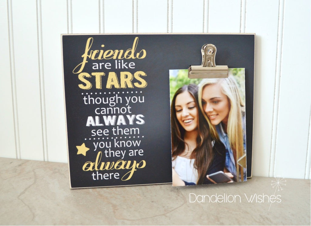 Friends Are Like Stars Picture Frame Gift For Friend