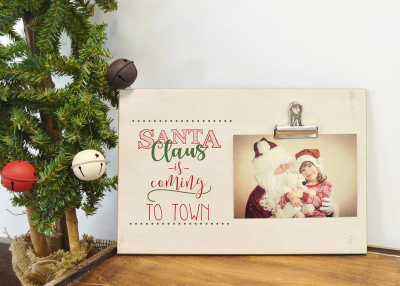 santa photo frame, santa claus is coming to town, decor for christmas, christmas decoration,