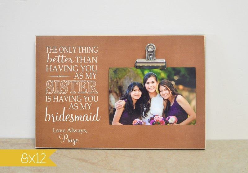 bridemsaid photo frame for sister