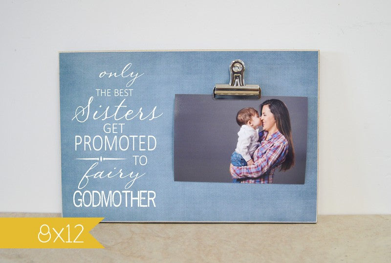 fairy godmother baptism thank you gift picture frame