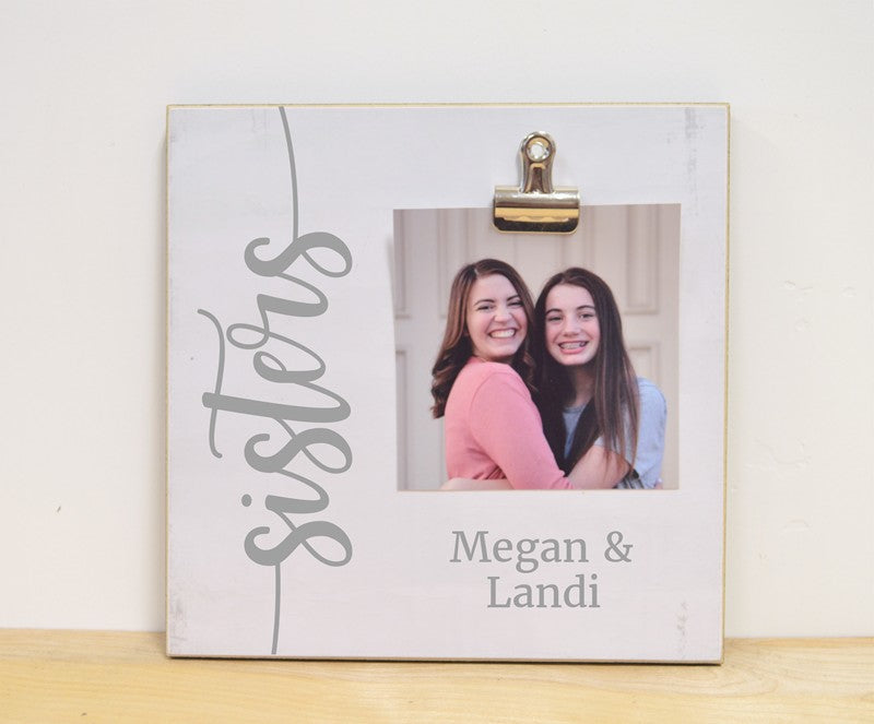 personalized photo frame for sisters, sisters gift