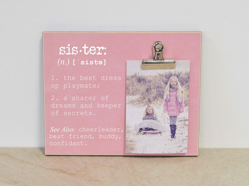 sisters photo frame, sisters definition, photo frame for sisters, sisters gift, birthday gift for sisters, girls bedroom decor