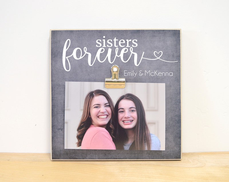 sisters forever, personalized photo frame for sisters