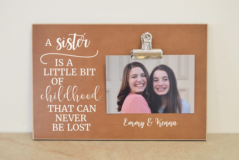 picture frame chistmas gift for sister, birthday gift for sister sisters photo frame