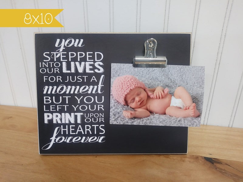 sympathy gift photo frame for angel baby