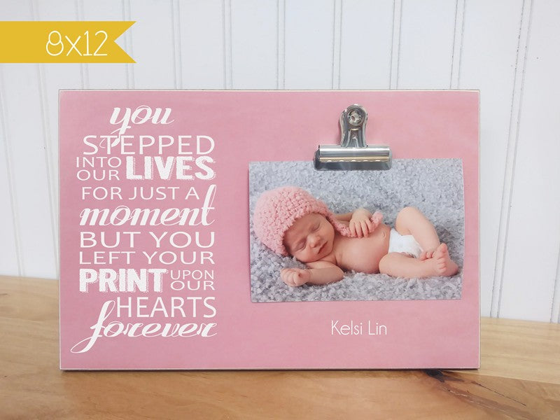 you stepped into our lives, memorial gift photo frame
