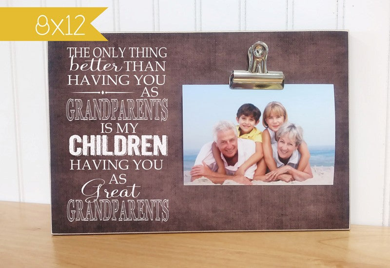 grandparent picture frame, great grandparent photo display