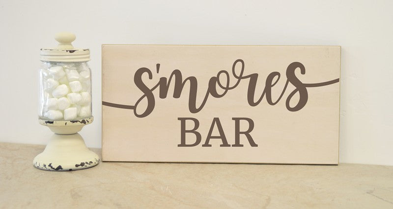 smores bar sign, smores bar decor, wedding decoration, party sign