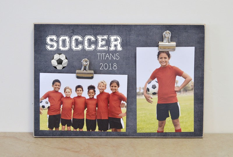soccer photo frame sports photos display for team photo and individual photo