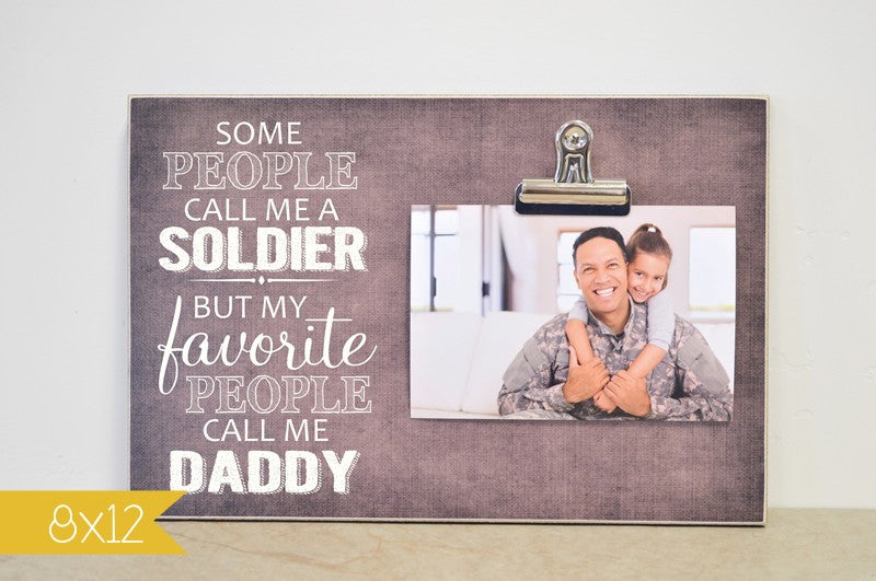 veteran's day gift for soldier, fathers day gift for dad, my favorite people call me daddy personalized soldier gift
