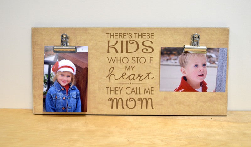 mothers day gift, mom photo frame, picture frame for mom, kids stole my herat