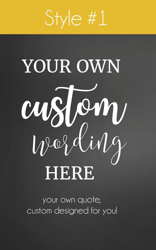Custom Designed Photo Frame, Made Just For You With Your Choice of Words