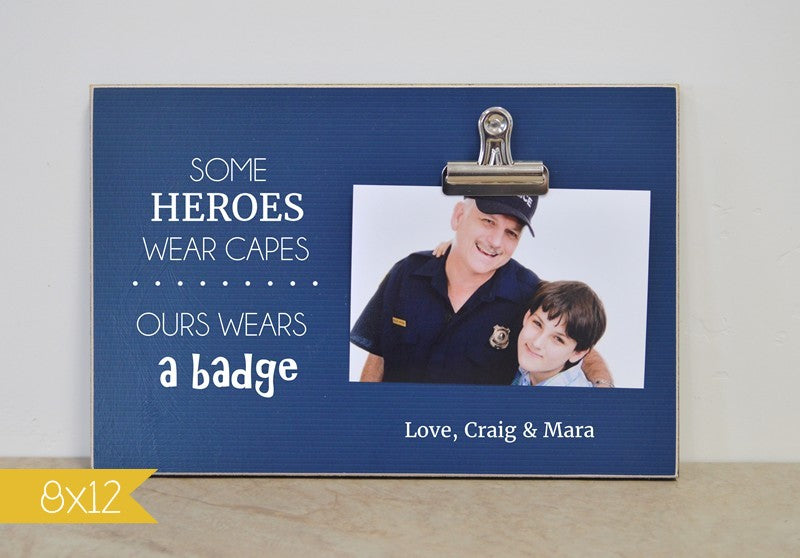 hero/ours wears a badge frame
