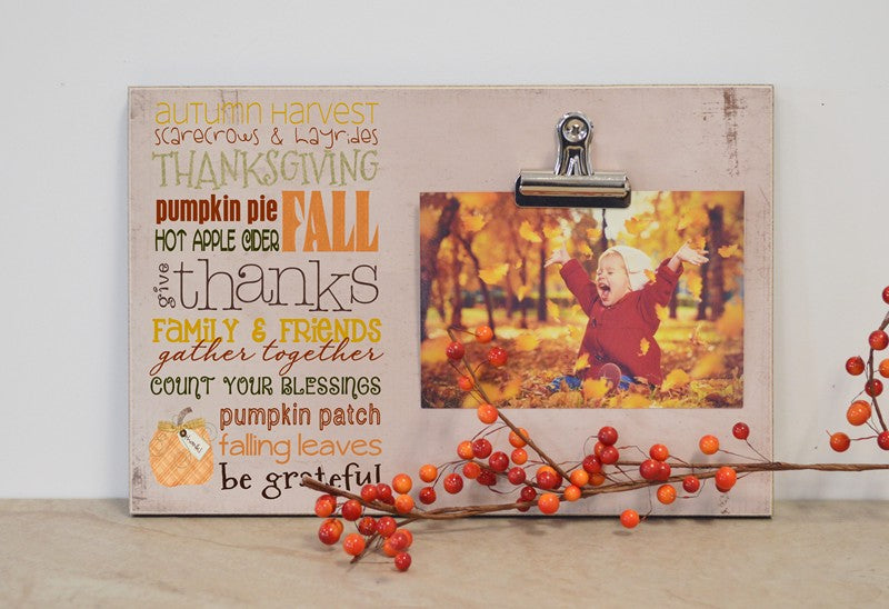 Thanksgiving Subway Art Photo Clip Frame