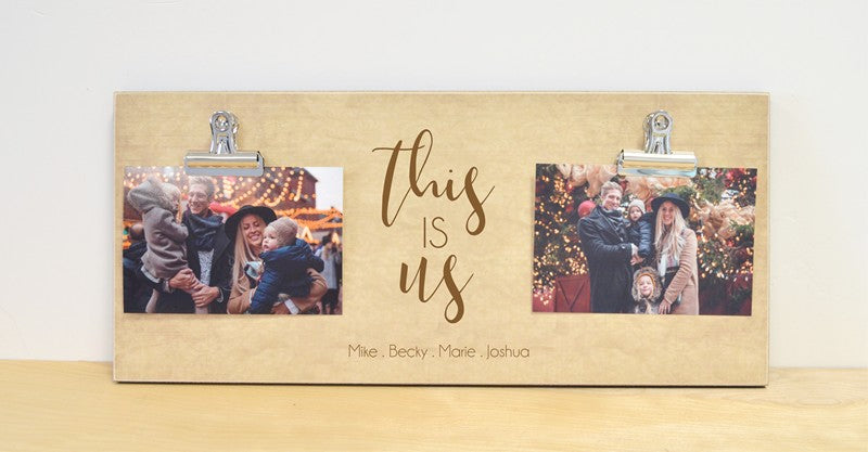 this is us, personalized photo frame gift for family, gift for couples, christmas gift personalized gift