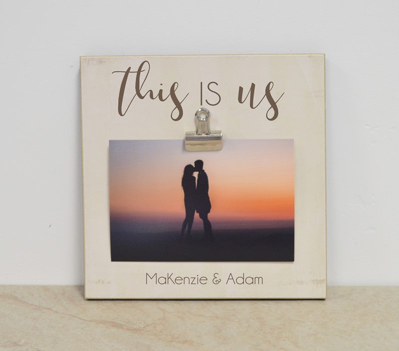 this is us farmhouse style photo frame, gift for couples anniversary gift, christmas gift