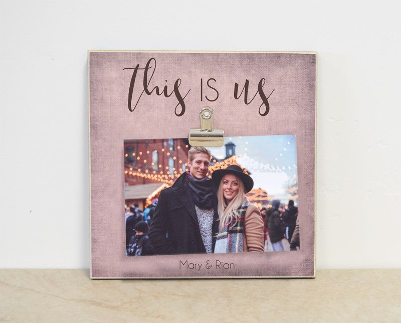 this is us photo frame gift